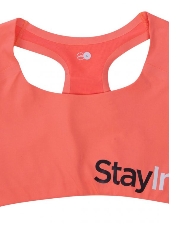 Active Sports Bra A/, Fusion Coral, M, Stay In Place