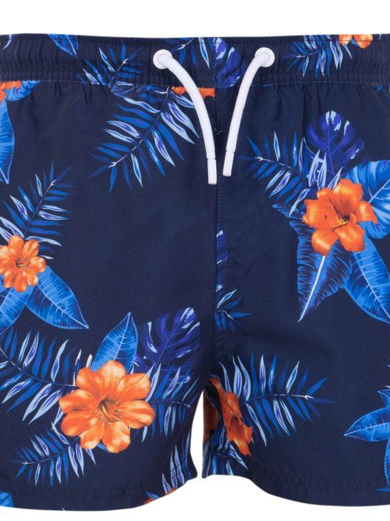 Beachshorts, Navy Orange Flower, M, Blount And Pool