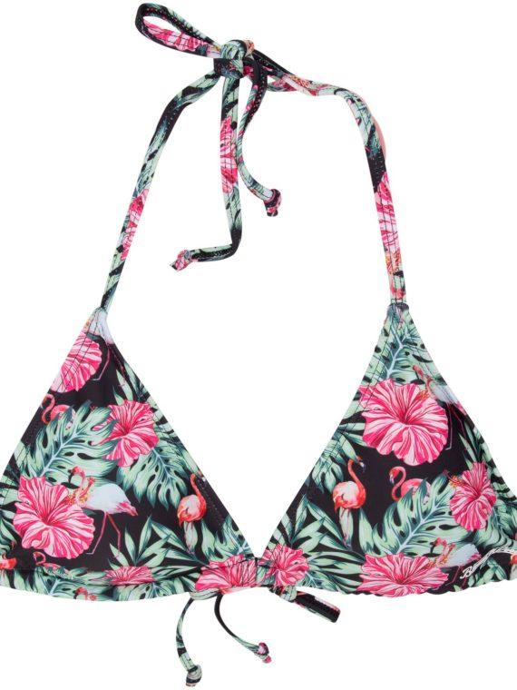Bikini Triangle Top Flower, Black Aop, 40, Blount And Pool
