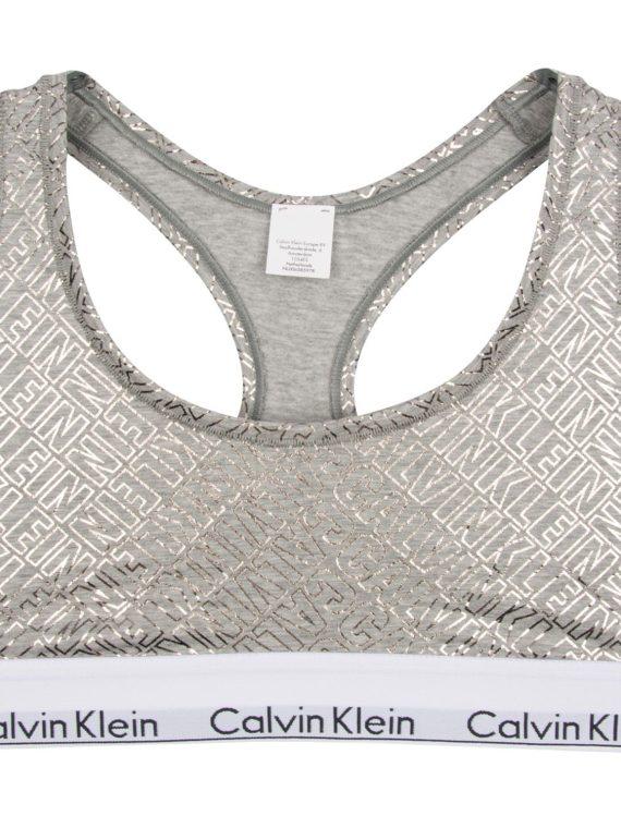 Bralette, Grey With Logo, L, Calvin Klein