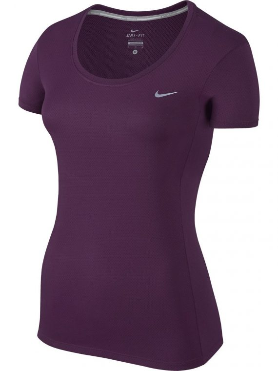 Dri-Fit Contour Short Sleeve, Mulberry/Reflective Silv, S, T-Shirts