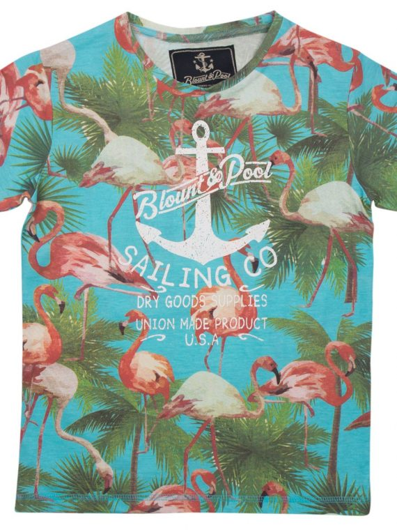Flamingo Tee Jr, Sea Blue, 160, Blount And Pool
