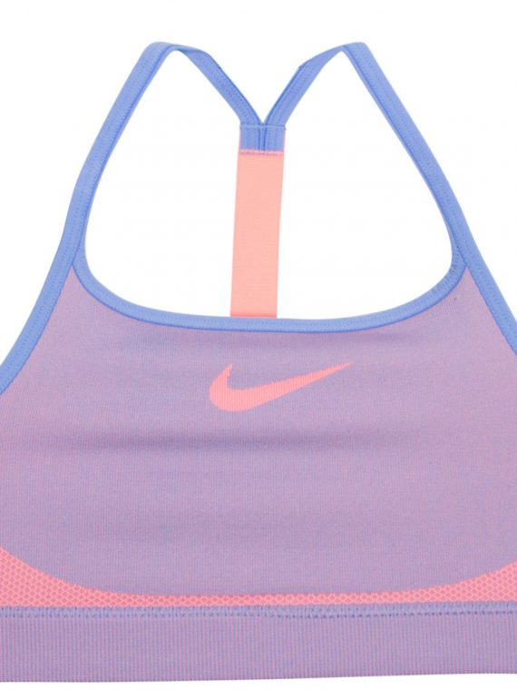 Girls' Nike Sports Bra, Royal Pulse/Crimson Pulse/Crim, S, Sport-Bh