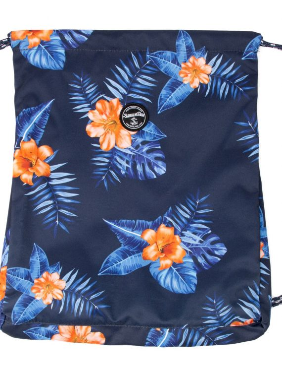 Hawaii Gym Bag, Navy Orange Flower, Onesize, Blount And Pool