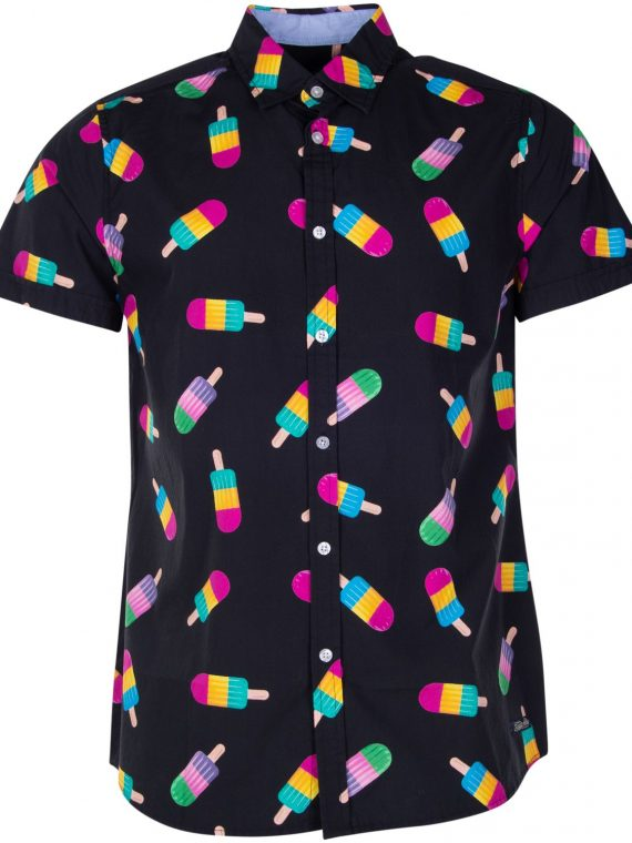 Hawaii Shirt, Black Ice Cream, Xs, Blount And Pool