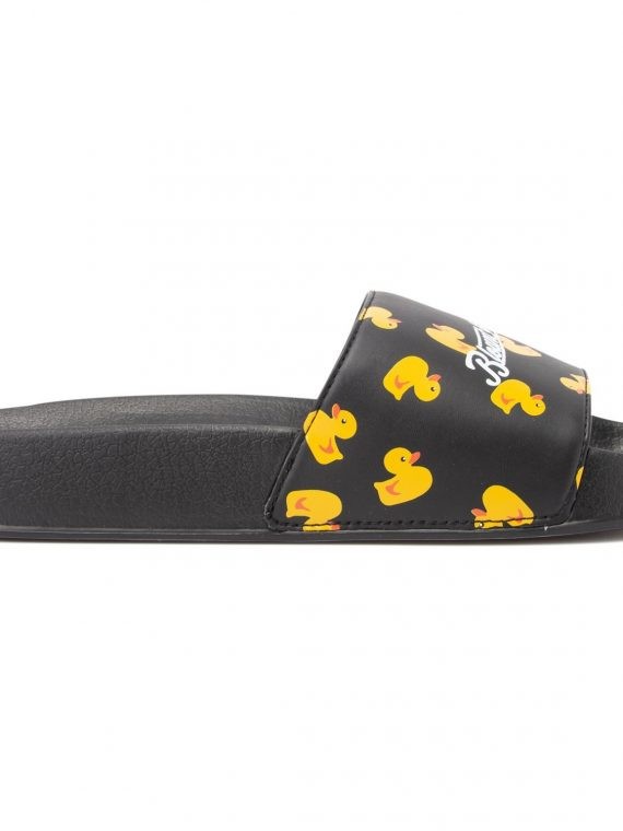 Hawaii Slippers, Black Yellow Duck, 43, Blount And Pool