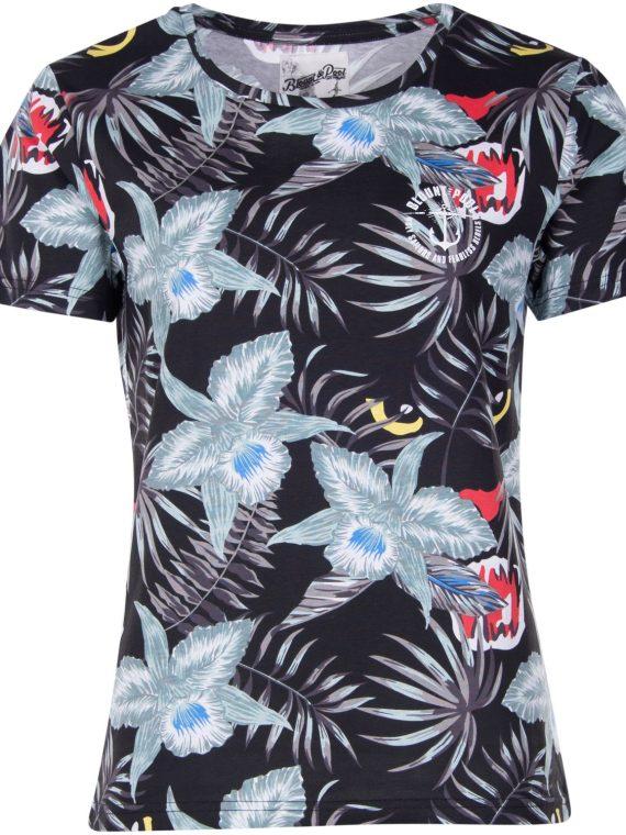 Jungle Tee W, Black Panther, 40, T-Shirts