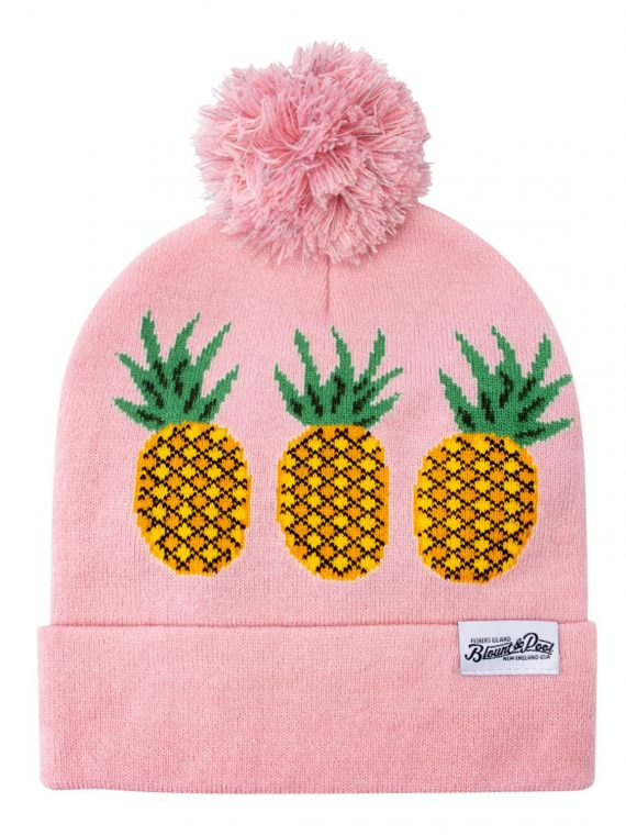 Knitted Hat Reflective Pom Pom, Pink Pineapple, Onesize, Blount And Pool