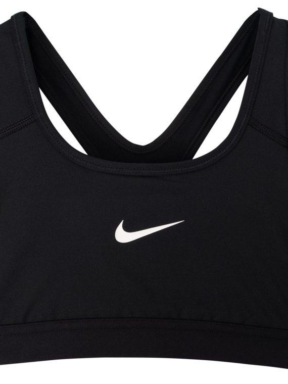 Nike Girls' Sports Bra, Black/Black/Black/White, M, Nike