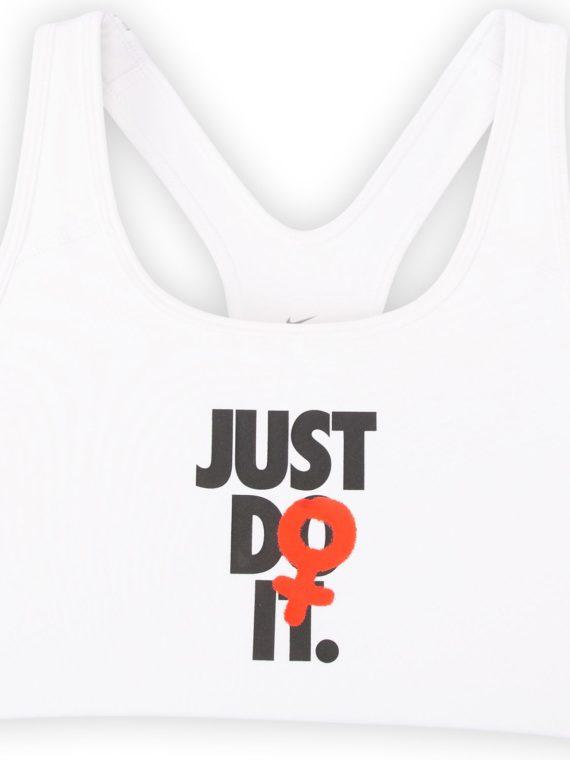 Nike Rebel Swoosh Jdi Bra, White/Black, Xs, Nike