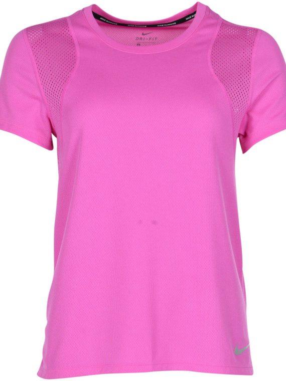Nike Run Women's Short-Sleeve, Active Fuchsia/Reflective Silv, S, Nike
