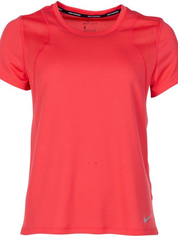 Nike Run Women's Short-Sleeve, Ember Glow/Ember Glow/Reflecti, S, Nike