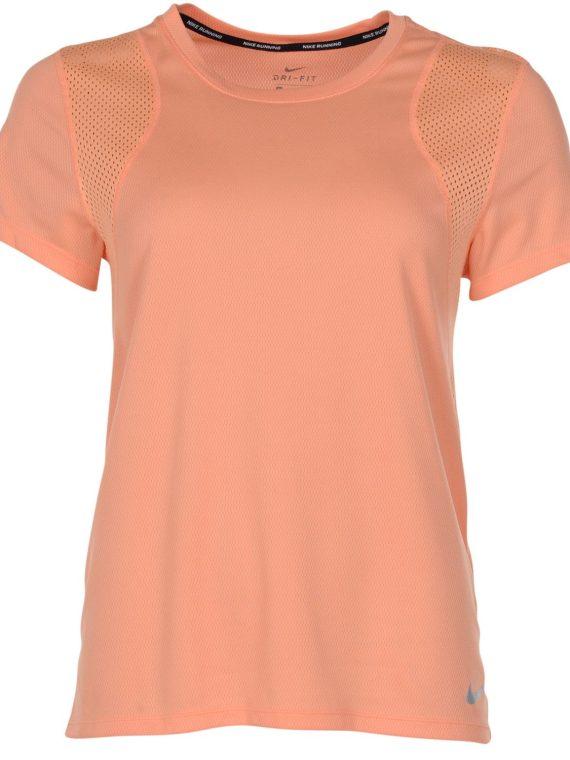 Nike Run Women's Short-Sleeve, Fuel Orange/Fuel Orange/Reflec, M, Nike