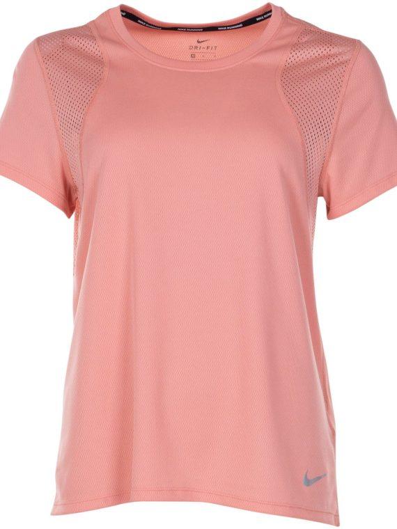 Nike Run Women's Short-Sleeve, Pink Quartz/Pink Quartz/Reflec, S, Nike