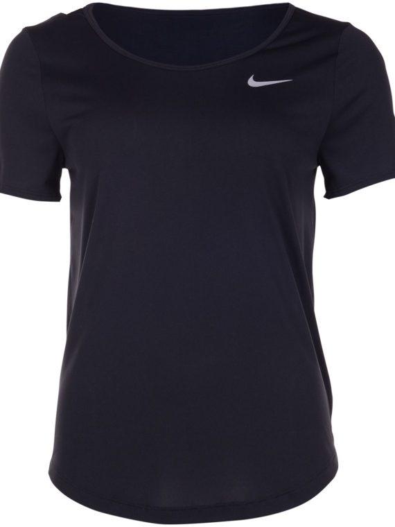 Nike Women's Running Top, Black/Reflective Silv, L, T-Shirts