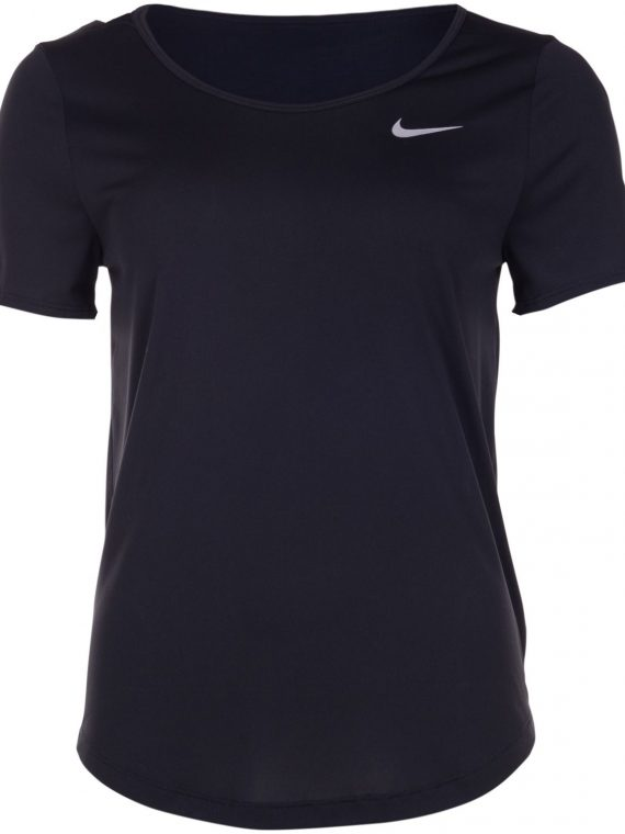 Nike Women's Running Top, Black/Reflective Silv, M, T-Shirts