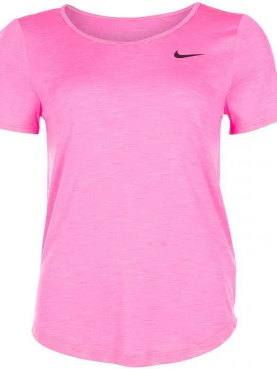 Nike Women's Running Top, Digital Pink/Htr/Black, Xl, T-Shirts