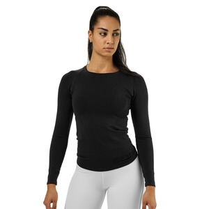 Nolita Seamless Ls, black melange, Better Bodies