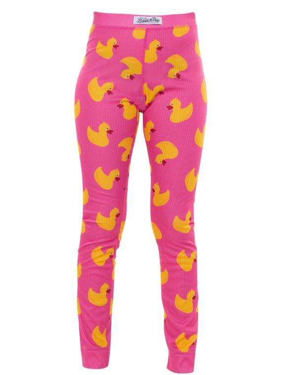 Pants Baselayer Jr, Pink Duck, 160, Blount And Pool