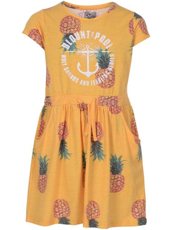 Pineapple Aruba Dress Jr, Yellow, 130, Blount And Pool