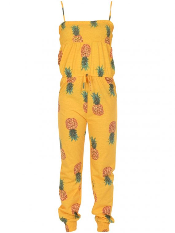 Pineapple Jumpsuit Jr, Yellow, 90, Blount And Pool