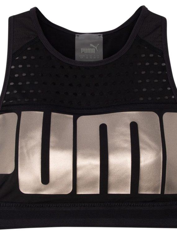Puma Bra M, Puma Black-Metallicashpuma, S, Puma