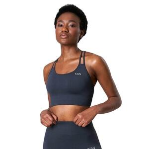 Ribbed Define Seamless Sports Bra, smokey blue, ICANIWILL
