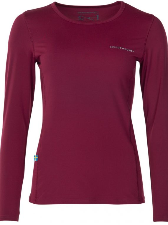 Saltö Ls W, Burgundy, 36, T-Shirts