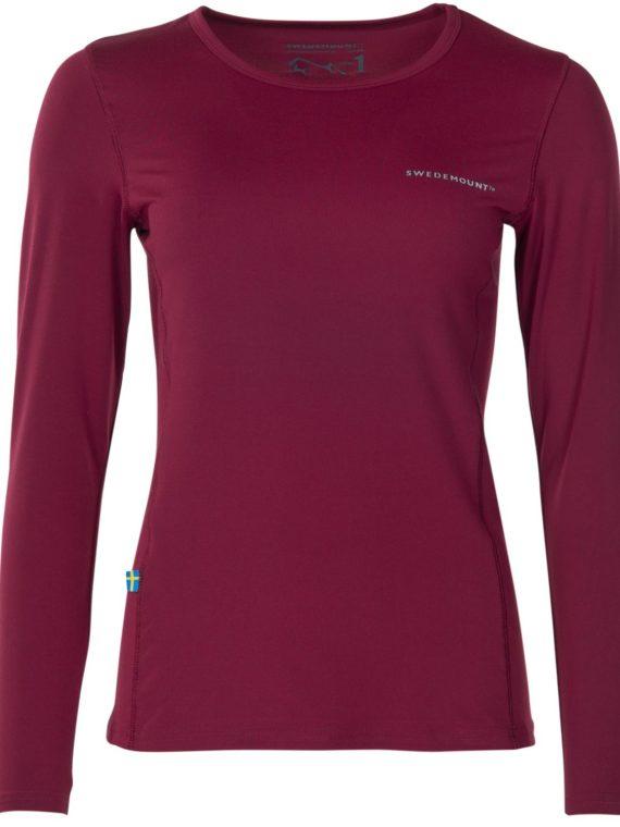Saltö Ls W, Burgundy, 38, T-Shirts