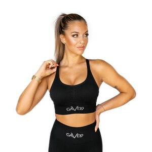 Seamless Sports Bra, black, Gavelo