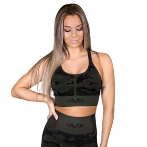 Seamless Sports Bra, pirate camo black, Gavelo