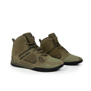 Troy High Tops, army green, Gorilla Wear