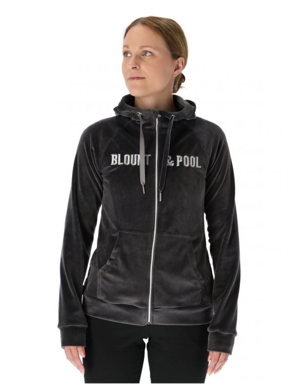 Velour Jacket W, Charcoal, 44, Tröjor