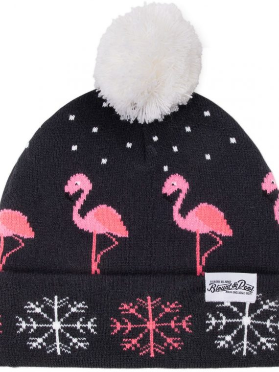 Winter Knitted Hat, Navy Flamingo, Onesize, Blount And Pool