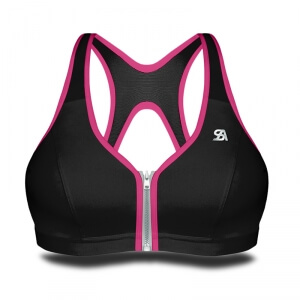 Zipped Bra, black/pink, Shock Absorber